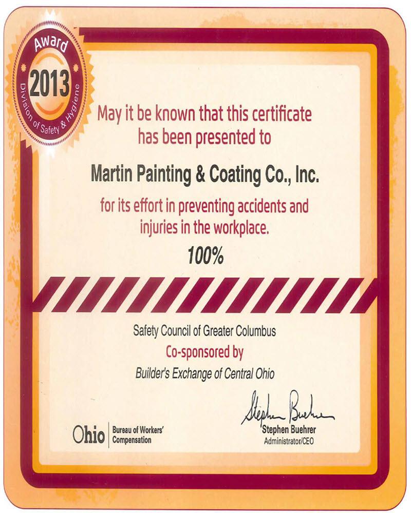 Painting Company Columbus Ohio: Martin Painting Wins Safety & Hygiene…